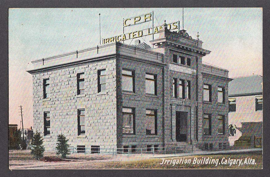 CPR Canadian Pacific Railway Irrigation Building Calgary Alberta postcard 1910s
