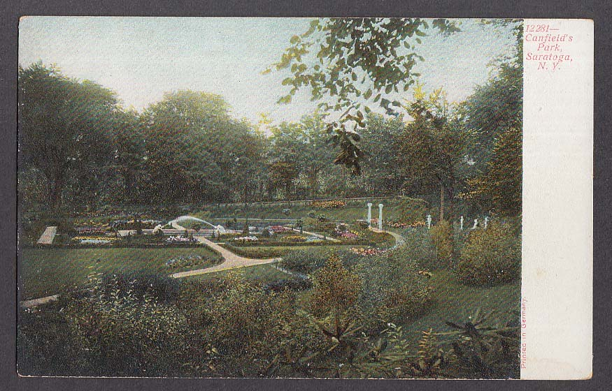 Canfield's Park Saratoga NY undivided back postcard 1900s