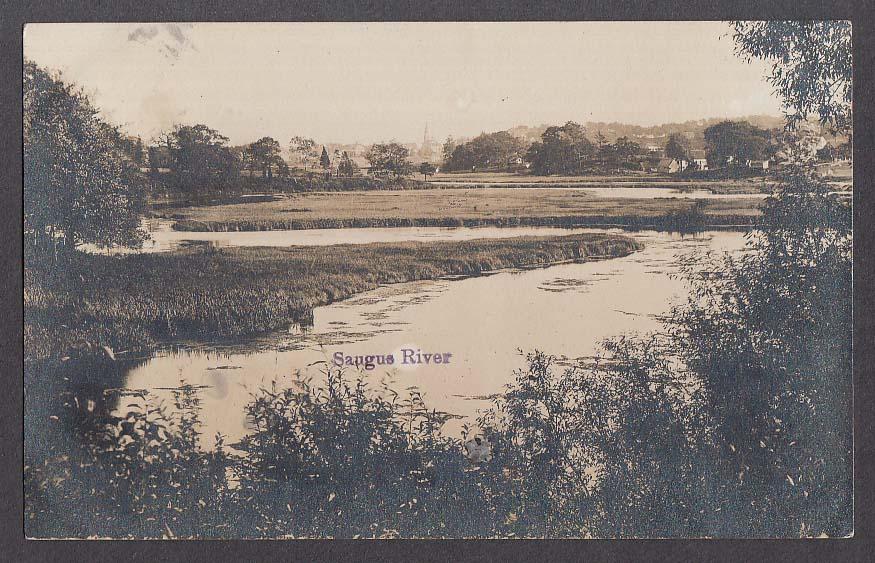 Saugus River MA RPPC postcard 1911