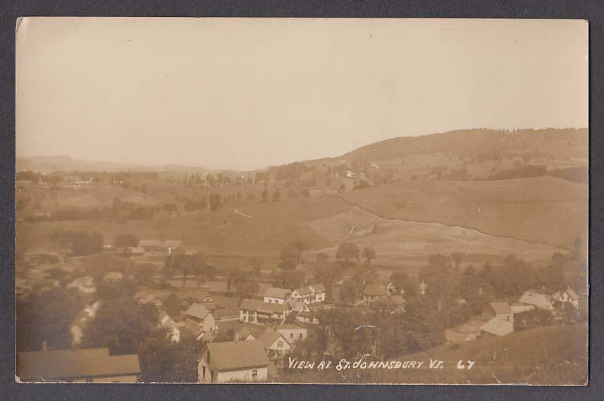 View at St Johnsbury VT RPPC postcard 1922
