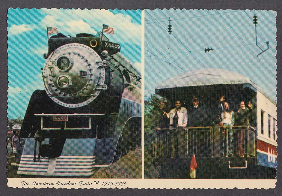 The American Freedom Train postcard 1976