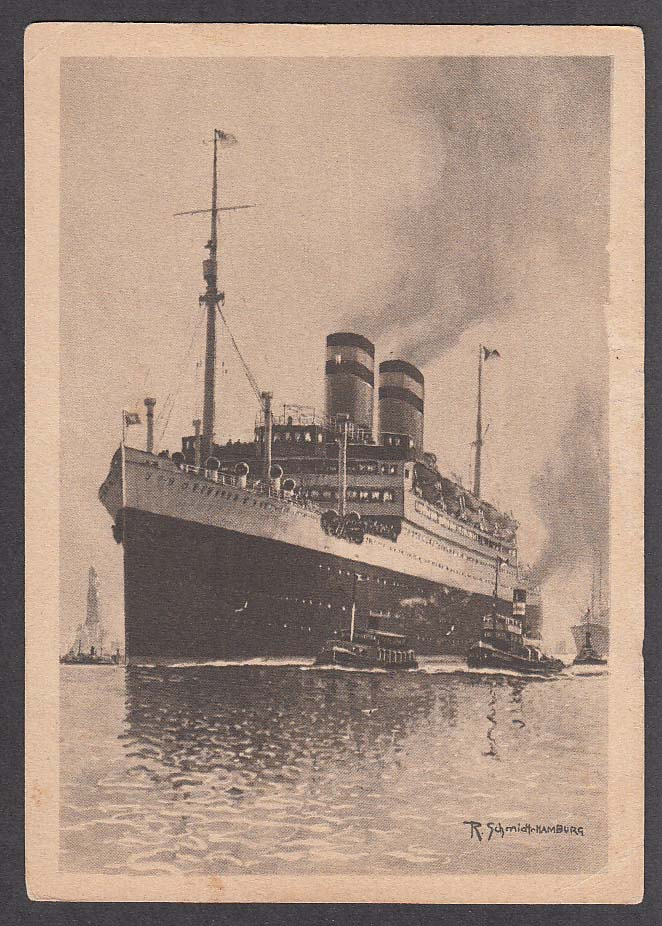 Hamburg-Amerika Linie ocean liner Hamburg postcard 1926