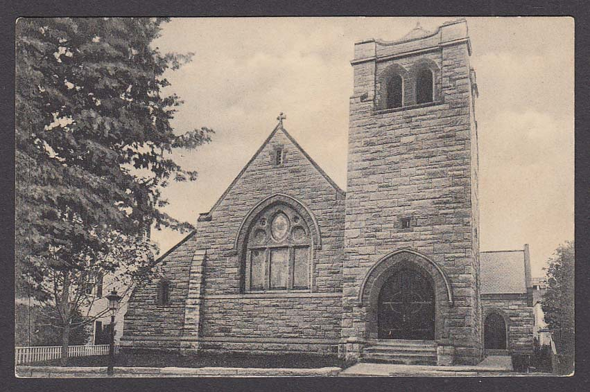 St Paul's Episcopal Church Nantucket MA postcard 1910s