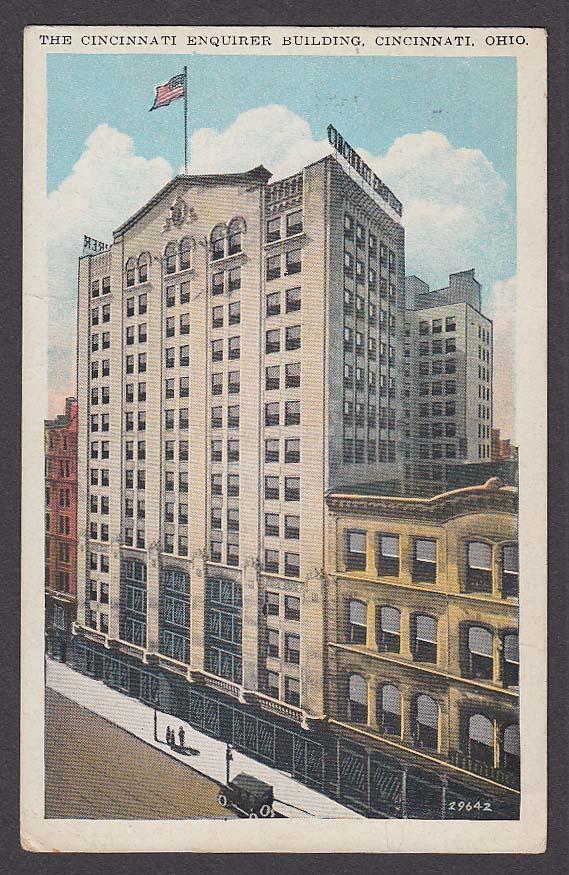 The Cincinnati Enquirer Building Cincinnati OH postcard 1941
