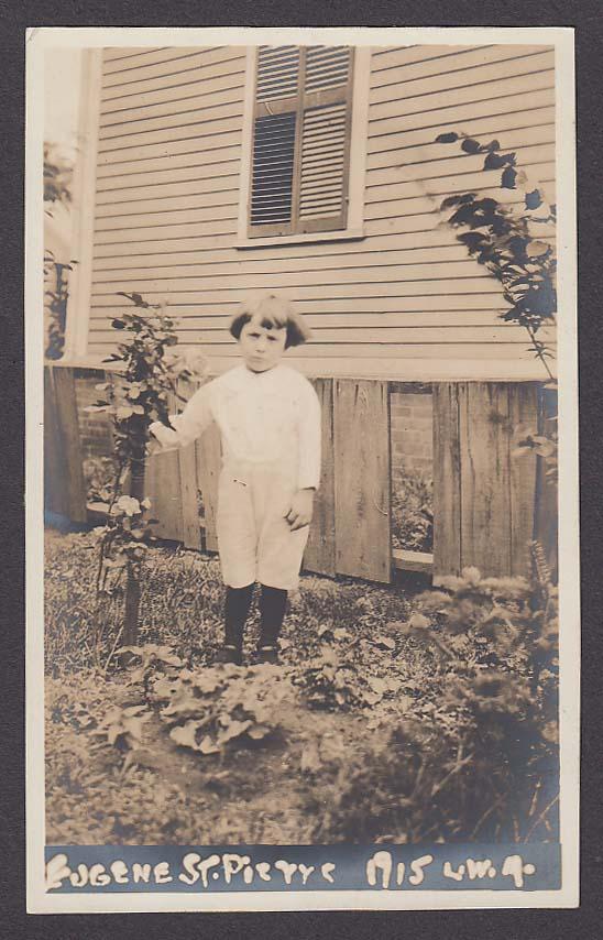 Eugene St Pierre RPPC postcard 1915