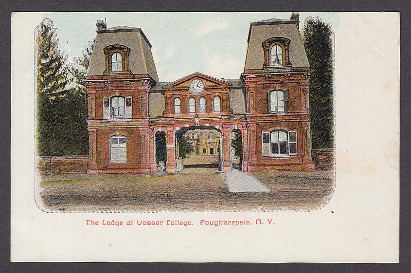 The Lodge at Vassar College Poughkeepsie NY postcard 1910s