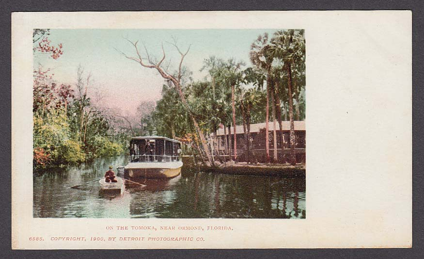 On the Tomoka near Ormond FL undivided back postcard 1900