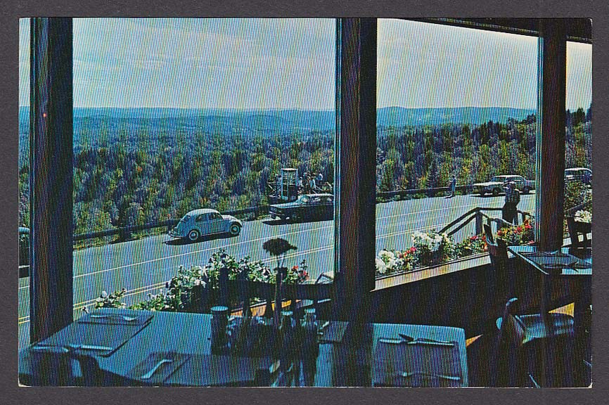 100 Mile View Skyline Restaurant Hogback Mountain Marlboro VT postcard 1960s