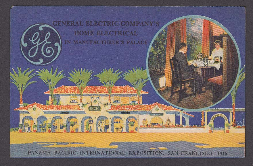 General Electric Company Panama Pacific International Exposition 1915 postcard
