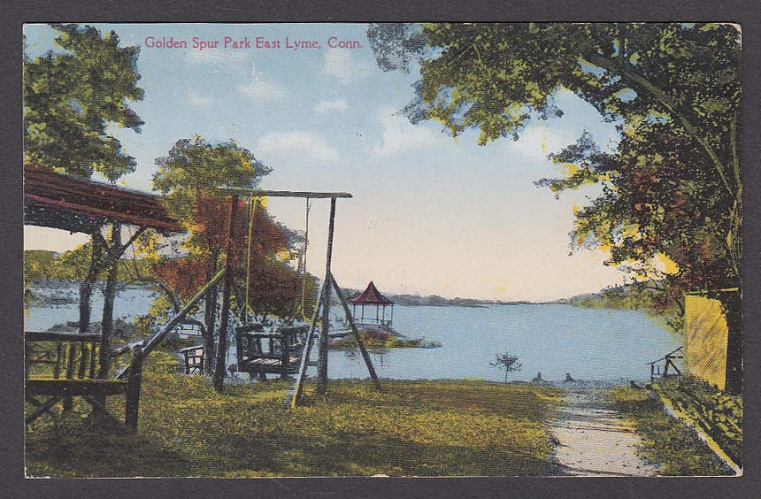 Golden Spur Park East Lyme CT postcard 1920s