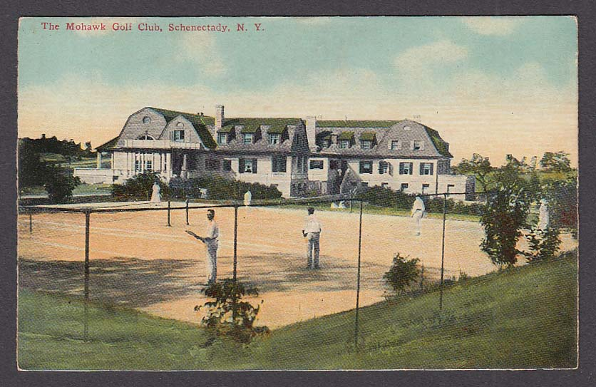 The Mohawk Golf Club Schenectady NY postcard 1910s