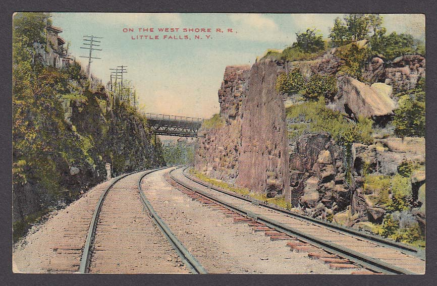 On the West Shore Railroad Little Falls NY postcard 1910s