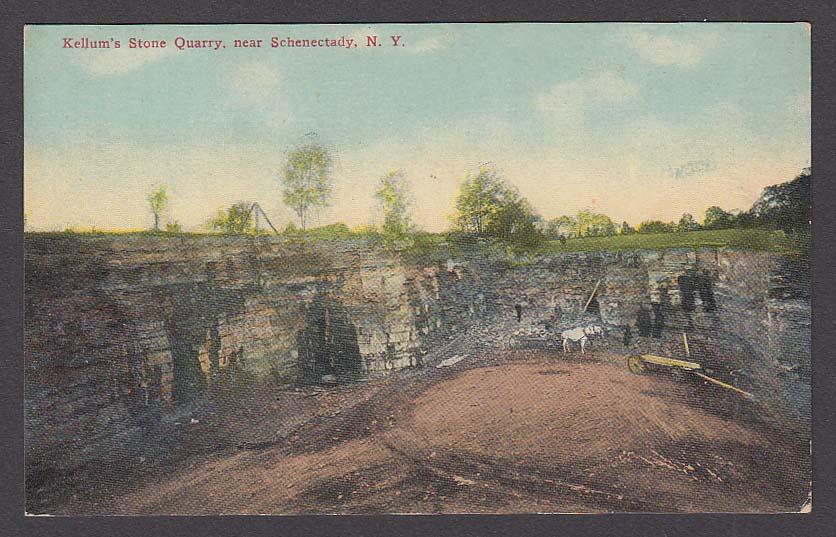 Kellum's Stone Quarry near Schenectady NY postcard 1910s