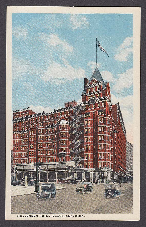 Hollenden Hotel Cleveland OH postcard 1920s
