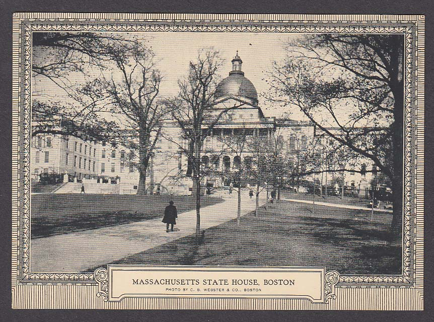 State House Boston Direct Mail Advertising Association Convention 1925 postcard