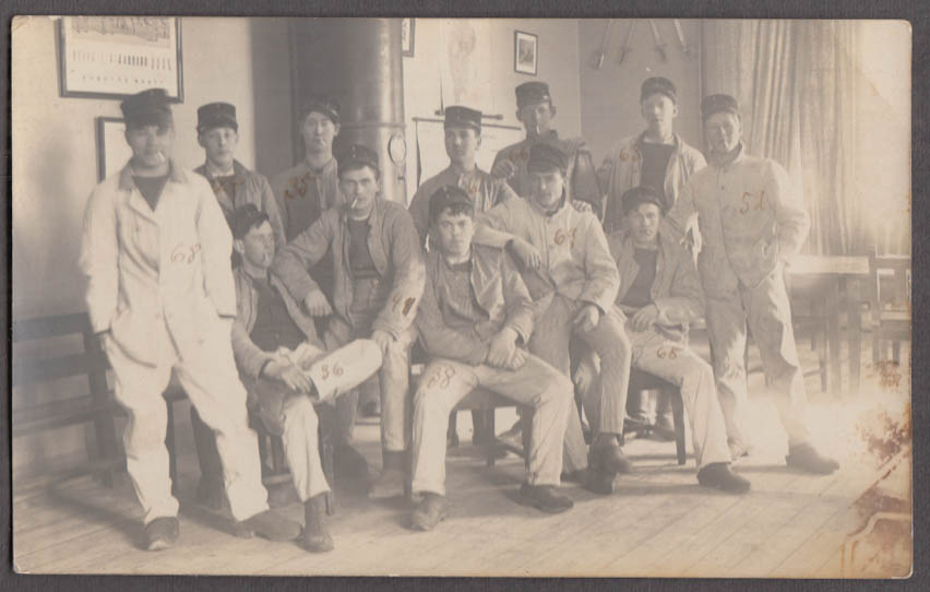 12 students at an unknown Swedish Military School RPPC postcard ca 1915