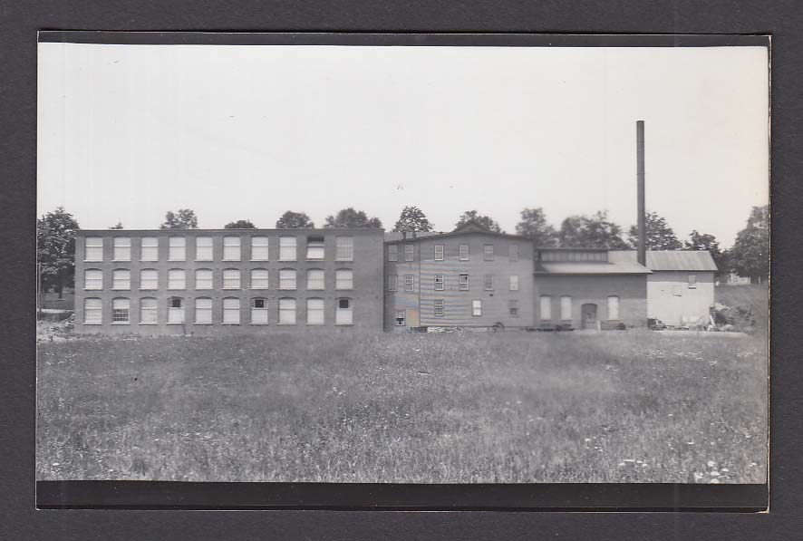 Pollack Mill & Eaton's Ice House Mansfield RPPC postcard #14 Building Exterior