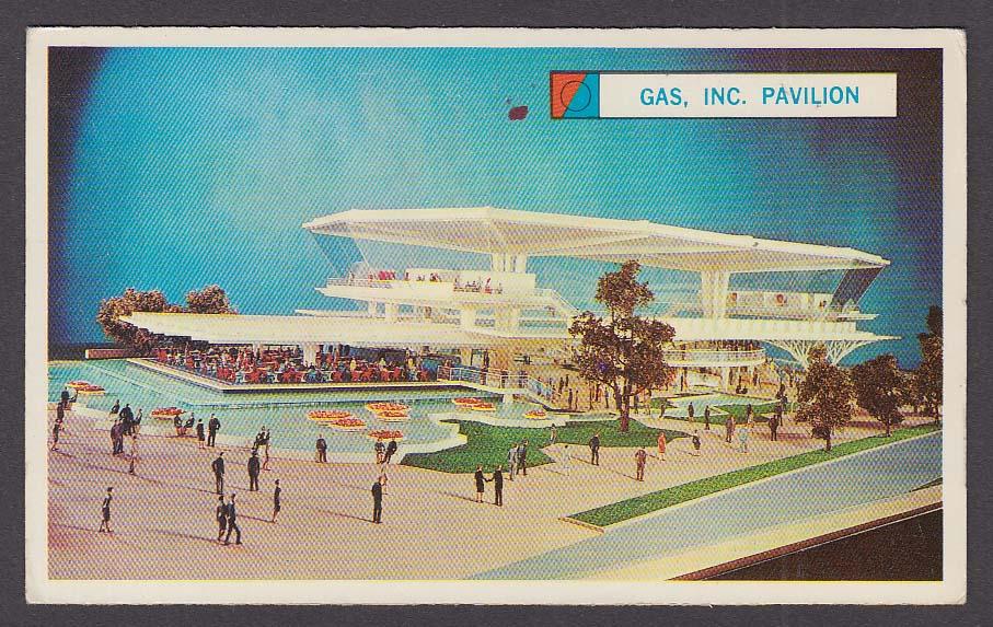 Image for Festival of Gas Pavilion 1964 New York World's Fair souvenir card