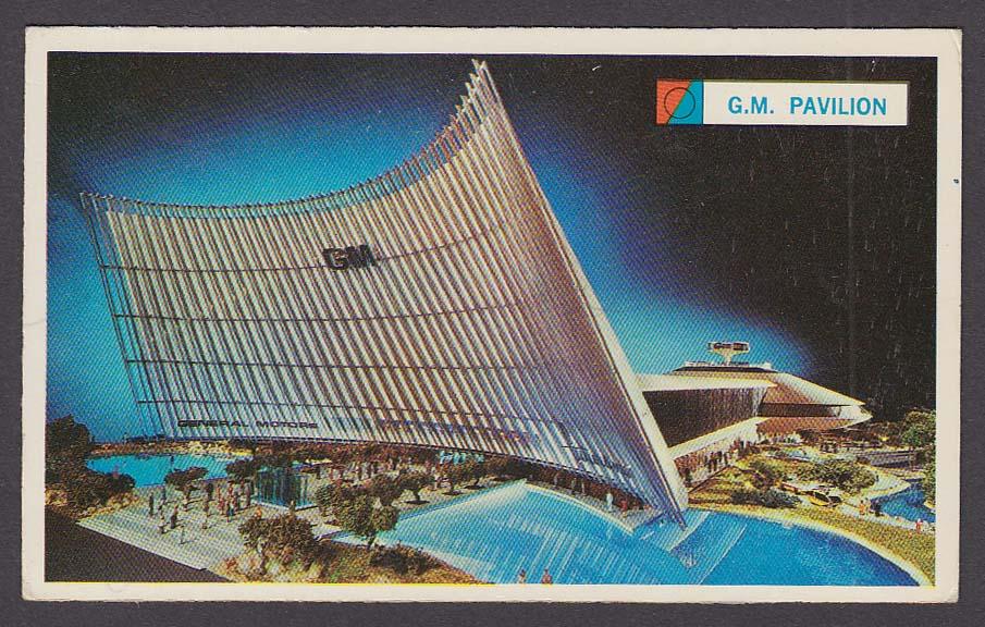 Image for General Motors Futurama Building 1964 New York World's Fair souvenir card