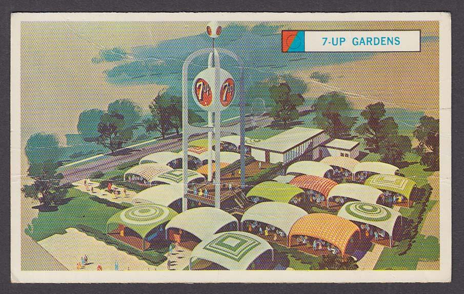 Image for 7up International Sandwich Gardens 1964 New York World's Fair souvenir card