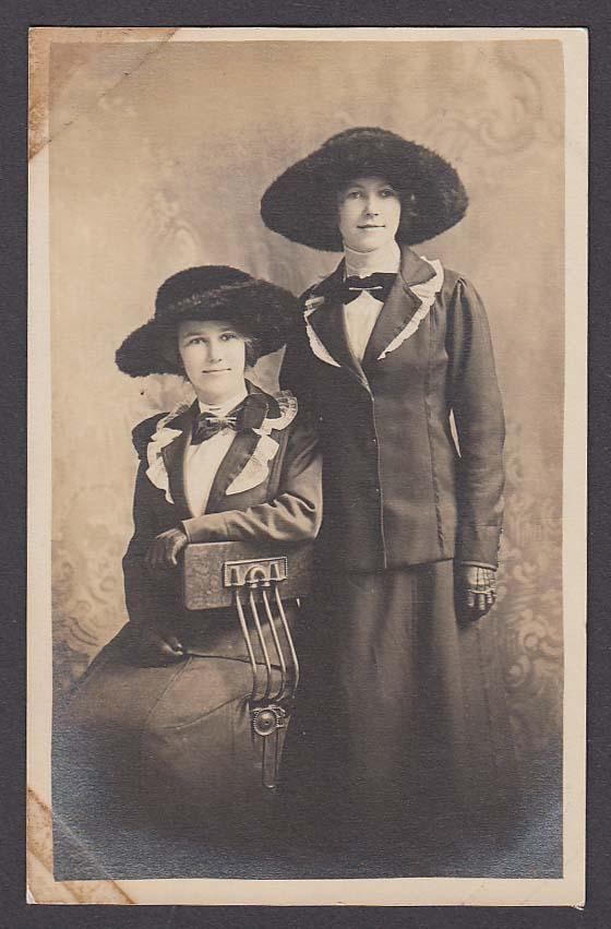 Perritt Sisters Manchester CT RPPC postcard