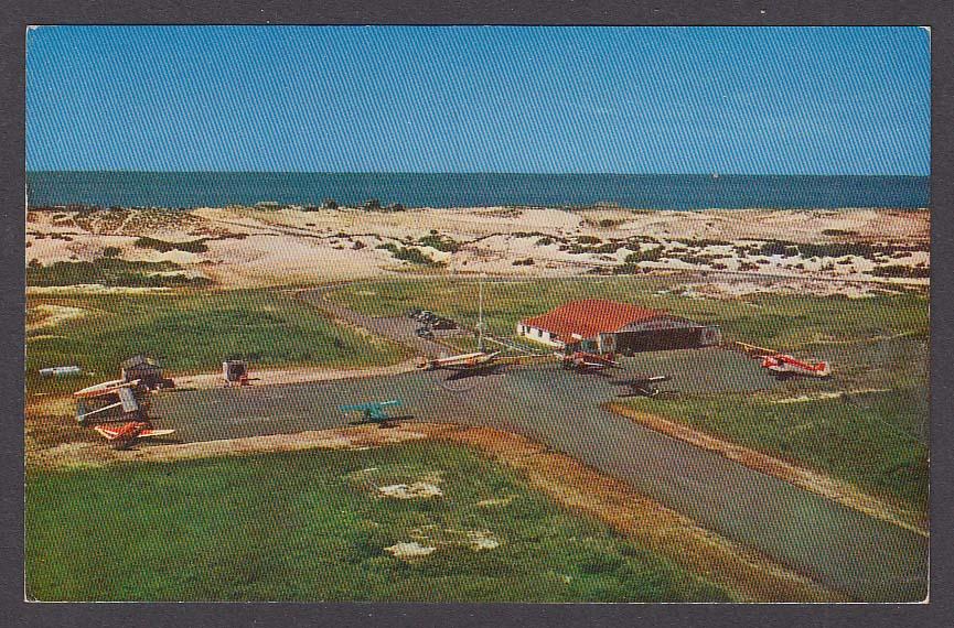 Provincetown Municipal Airport Cape Cod MA postcard 1967