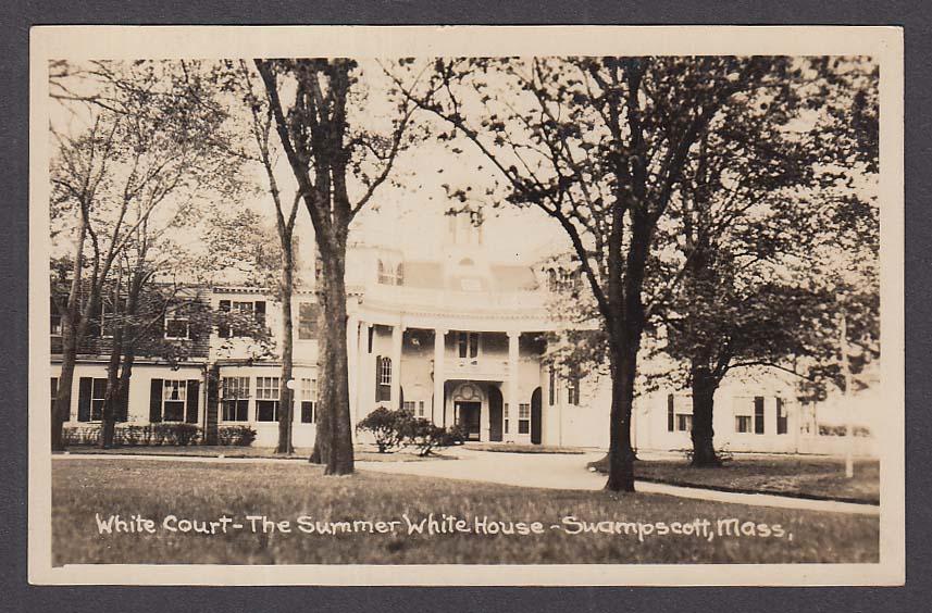 White Court The Summer White House Swampscott MA RPPC postcard 1920s