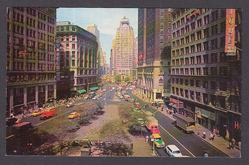 Gimbels Herald Square New York City NY postcard 1950s