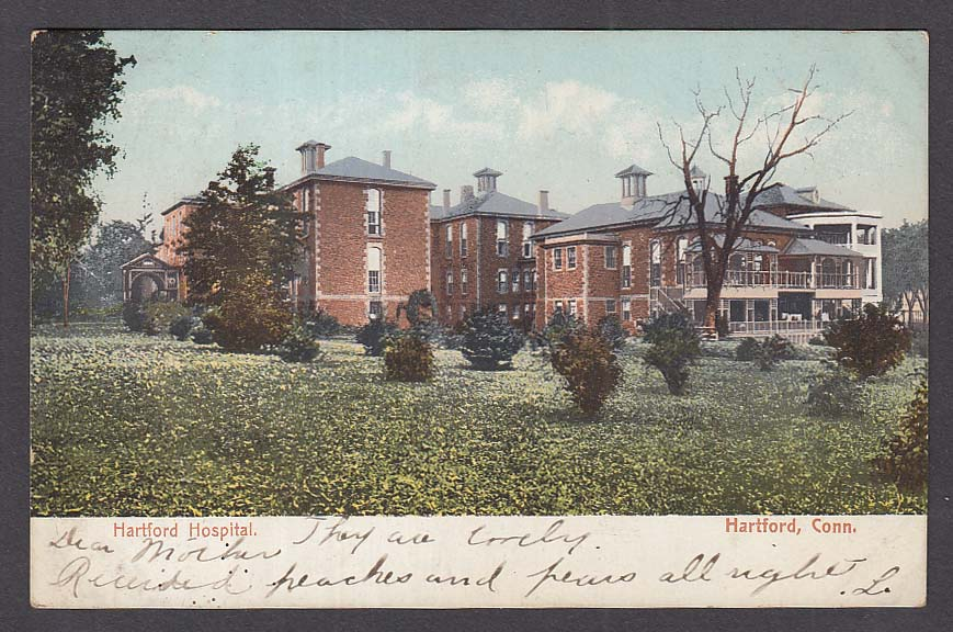 Hartford Hospital Hartford CT undivided back postcard 1910