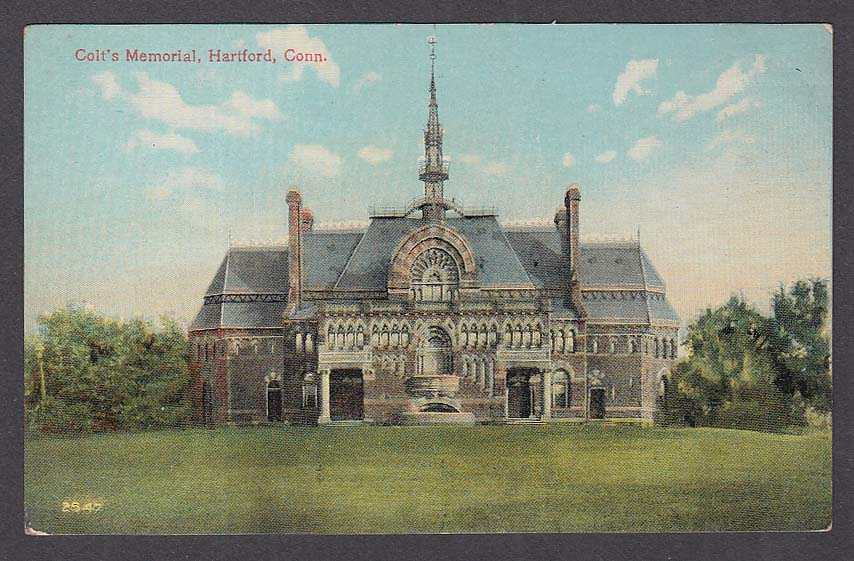 Colt's Memorial Hartford CT postcard 1910s