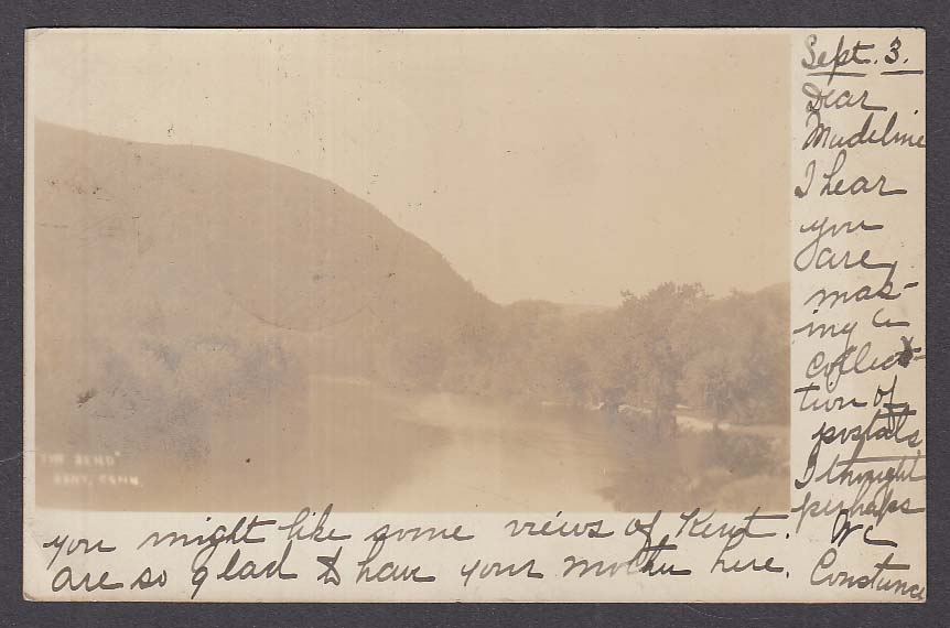 """The Bend"" Kent CT RPPC postcard 1906"