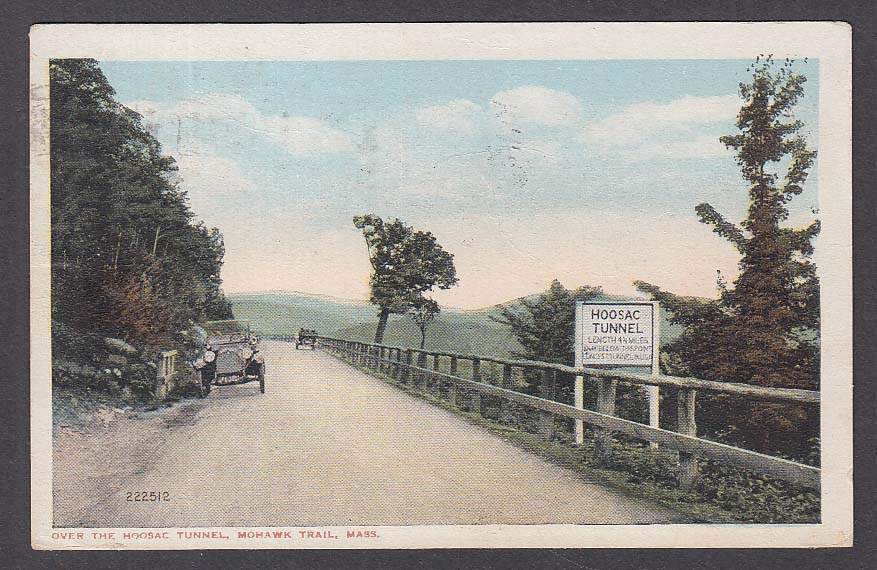 Hoosac Tunnel Mohawk Trail MA postcard 1917