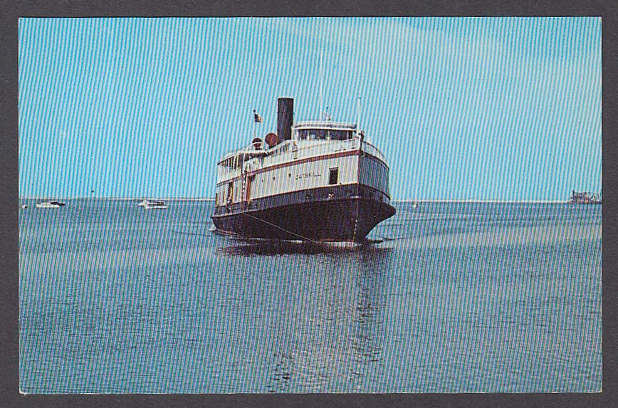 Bridgeport Ferry Catskill Port Jefferson Harbor Long Island NY postcard 1960s