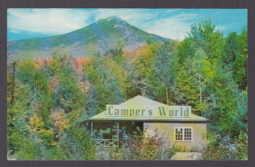 Camper's World Tent & Trailer Camp Ground North Woodstock NH postcard 1964