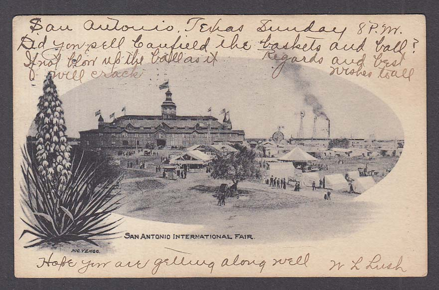 San Antonio International Fair TX undivided back postcard 1904