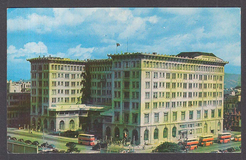 Peninsula Hotel Kowloon Hong Kong postcard 1958