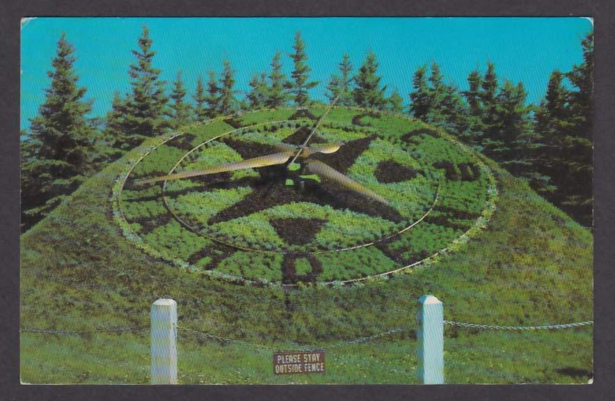 International Peace Garden Manitoba Border ND postcard 1976