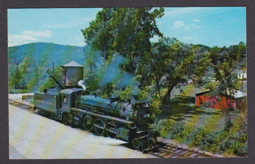 1278 Canadian Pacific Engine Steamtown Bellows Falls VT postcard 1960s