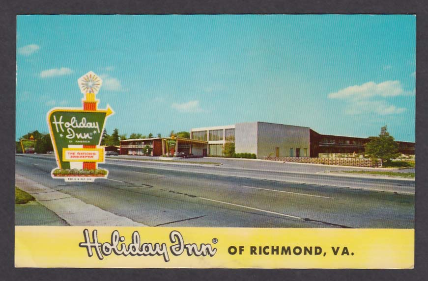 Holiday Inn Richmond VA postcard 1963
