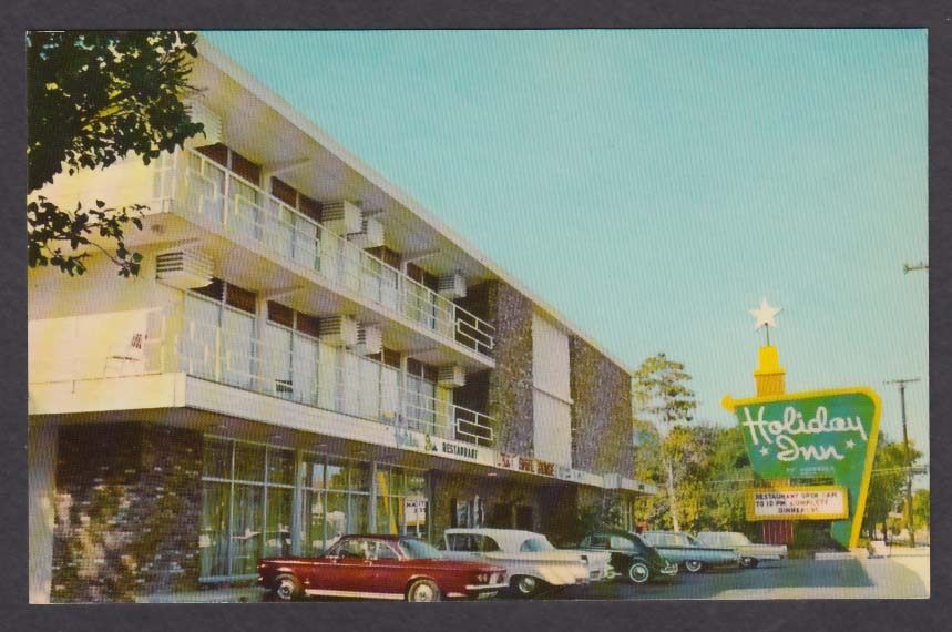 Holiday Inn 2500 Brickell Ave Miami FL postcard 1960s