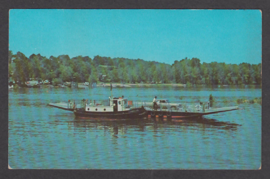 Rocky Hill South Glastonbury Ferry Boat Connecticut River CT postcard 1960s