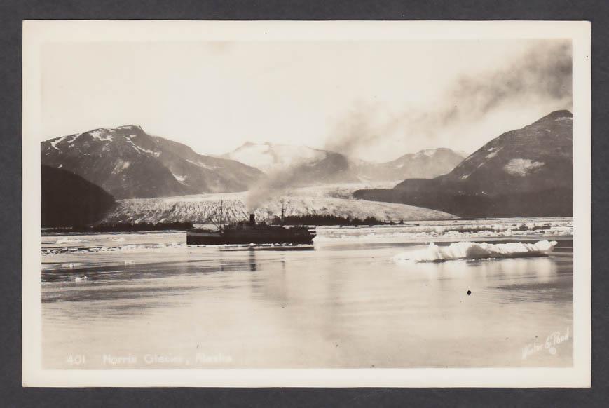 Norris Glacier AK RPPC postcard 1950s
