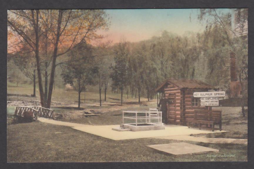 Hot Sulphur Spring Hot Springs VA postcard 1910s