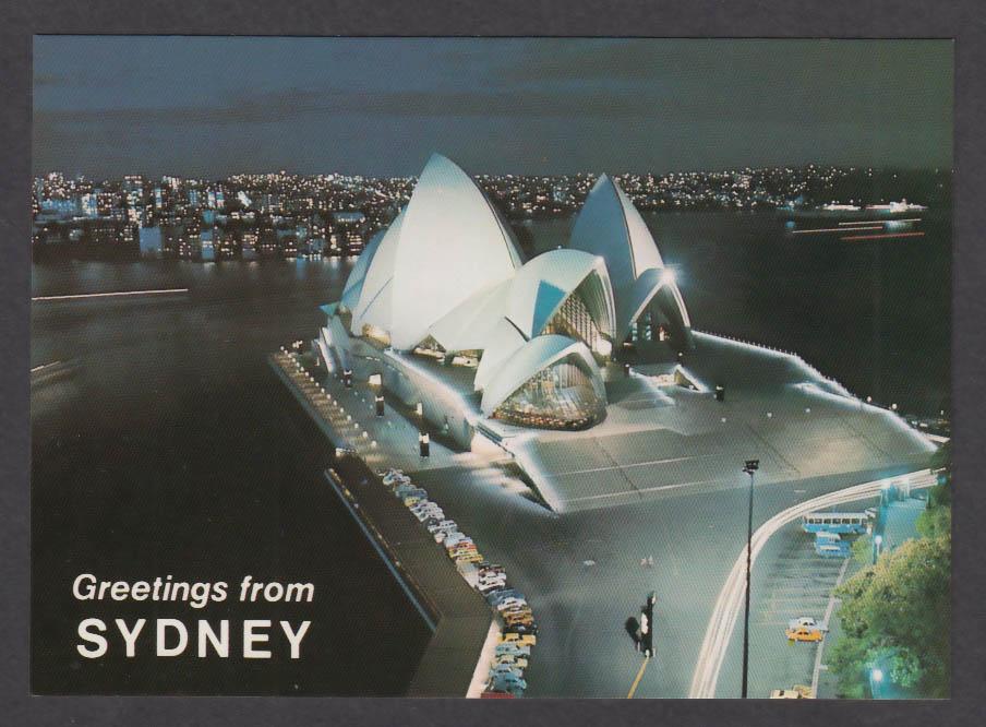 Sydney Opera House Australia postcard 1970s