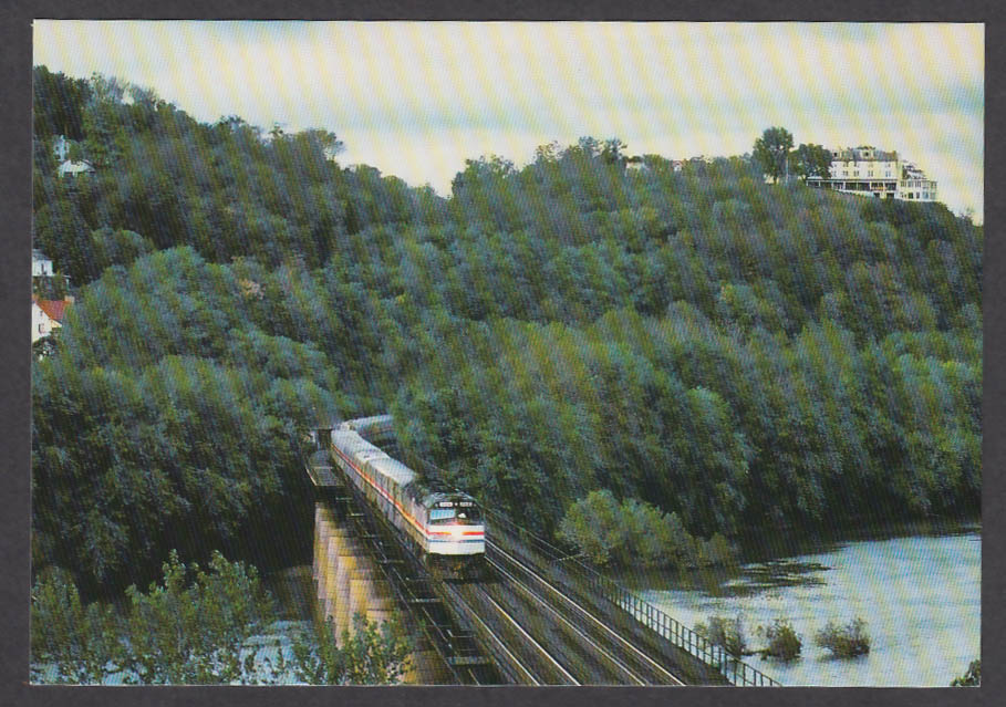 Amtrak First Class Service Capitol Limited Harpers Ferry WV postcard 1980s