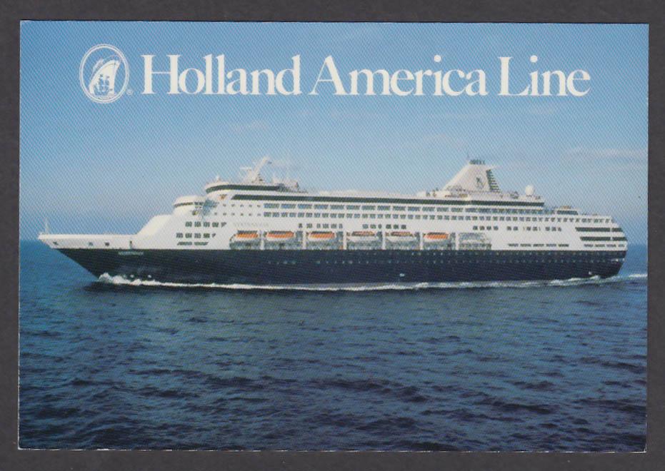 Holland America Line MS Statendam postcard 1980s
