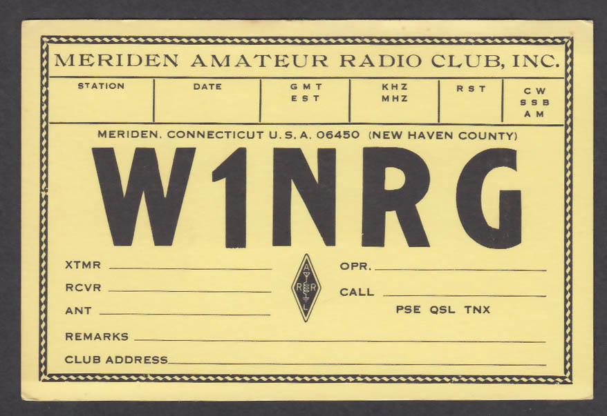 Image for W1NRG Meriden Amateur Radio Club CT QSL postcard