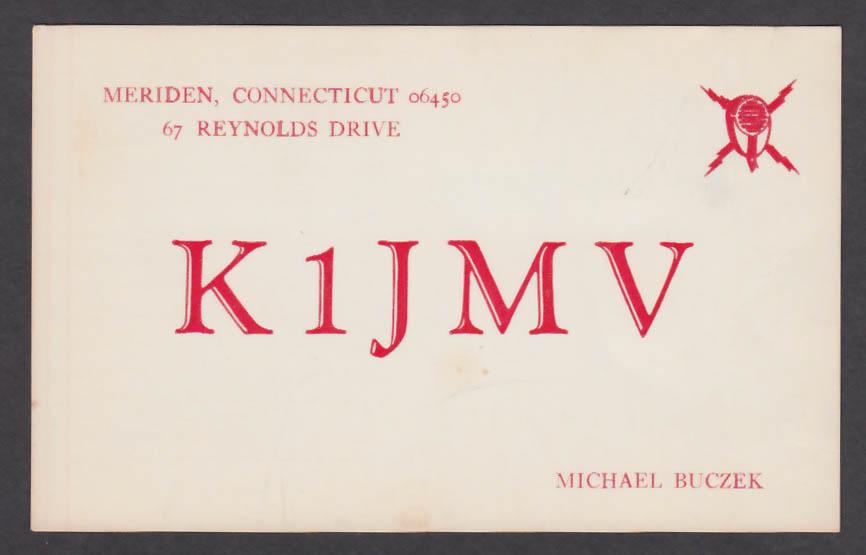 Image for K1JMV Michael Buczek Meriden CT QSL postcard