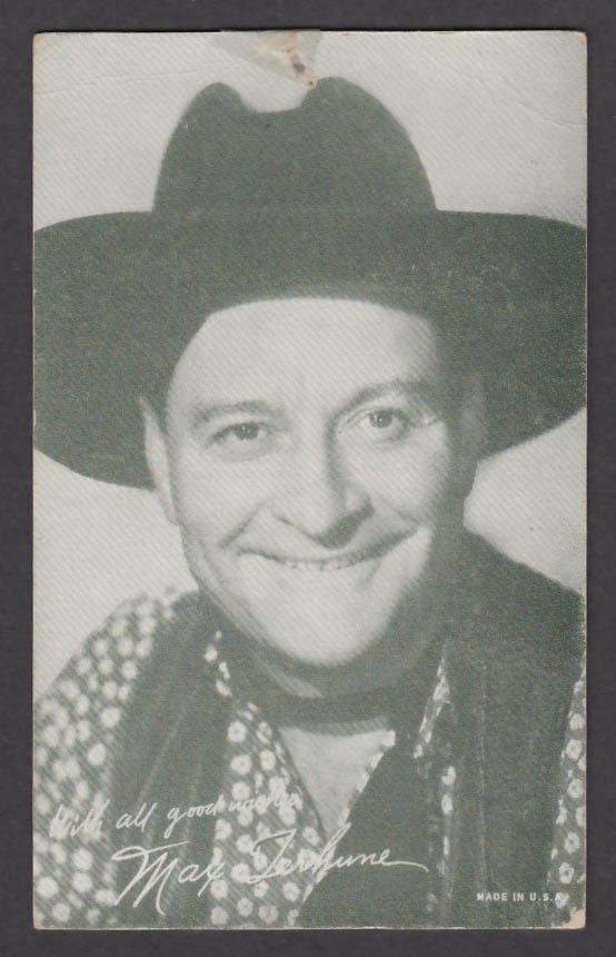 Image for Max Terhune arcade card 1940s