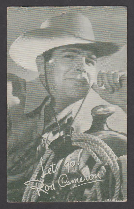 Image for Rod Cameron arcade card 1940s